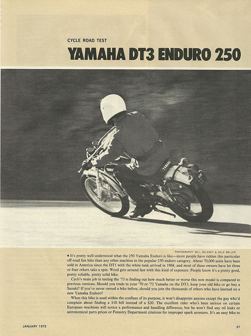 1973 Yamaha DT3 Enduro 250 road test p1.JPG