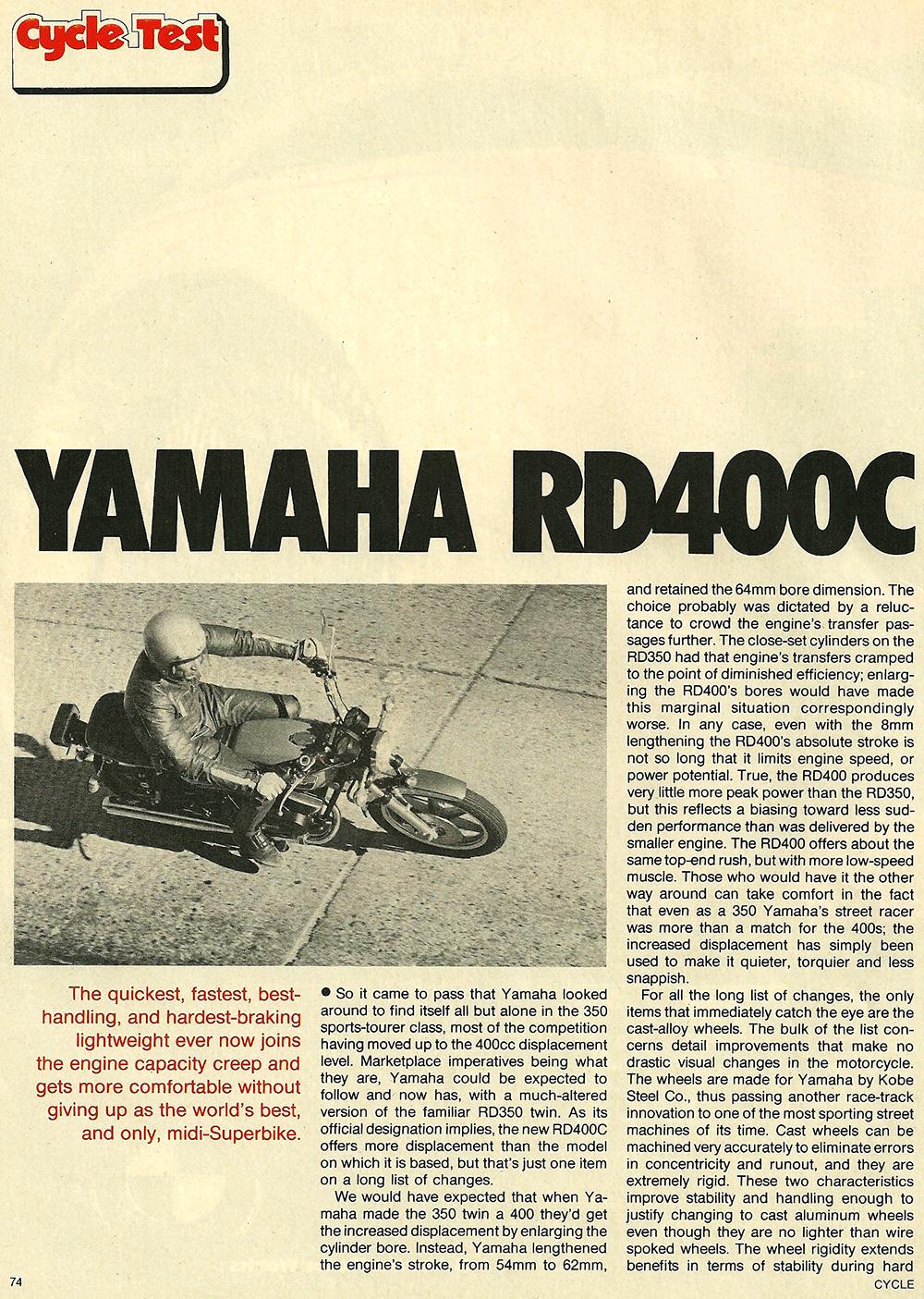 1976 Yamaha RD400C road test 1.jpg