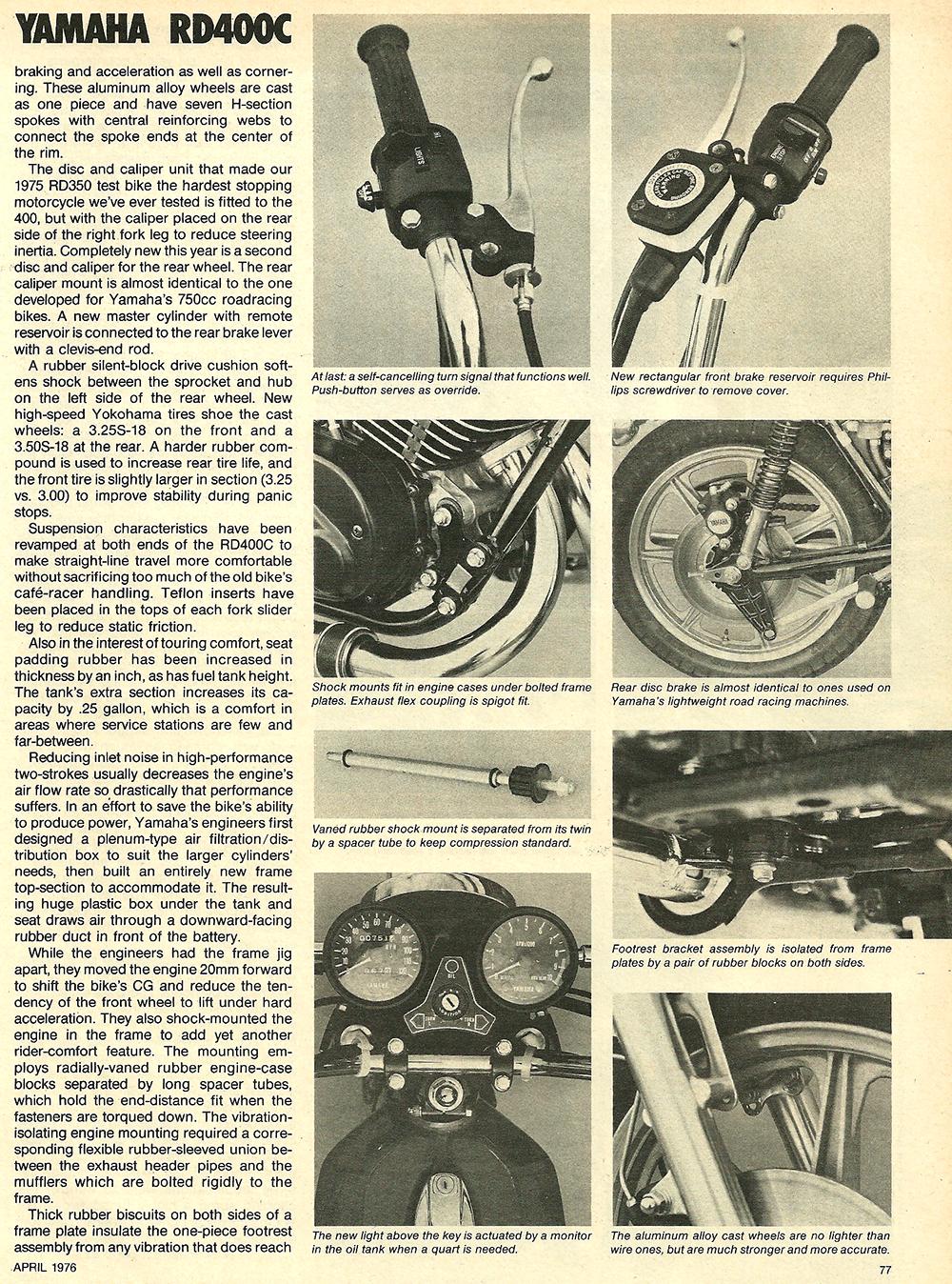 1976 Yamaha RD400C road test 4.jpg