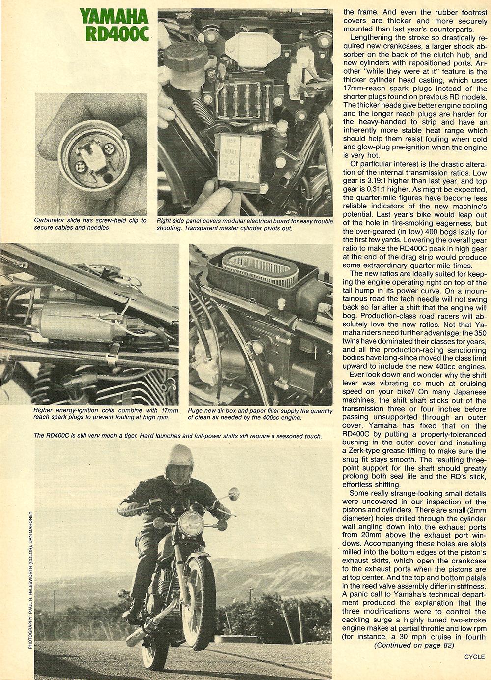 1976 Yamaha RD400C road test 5.jpg