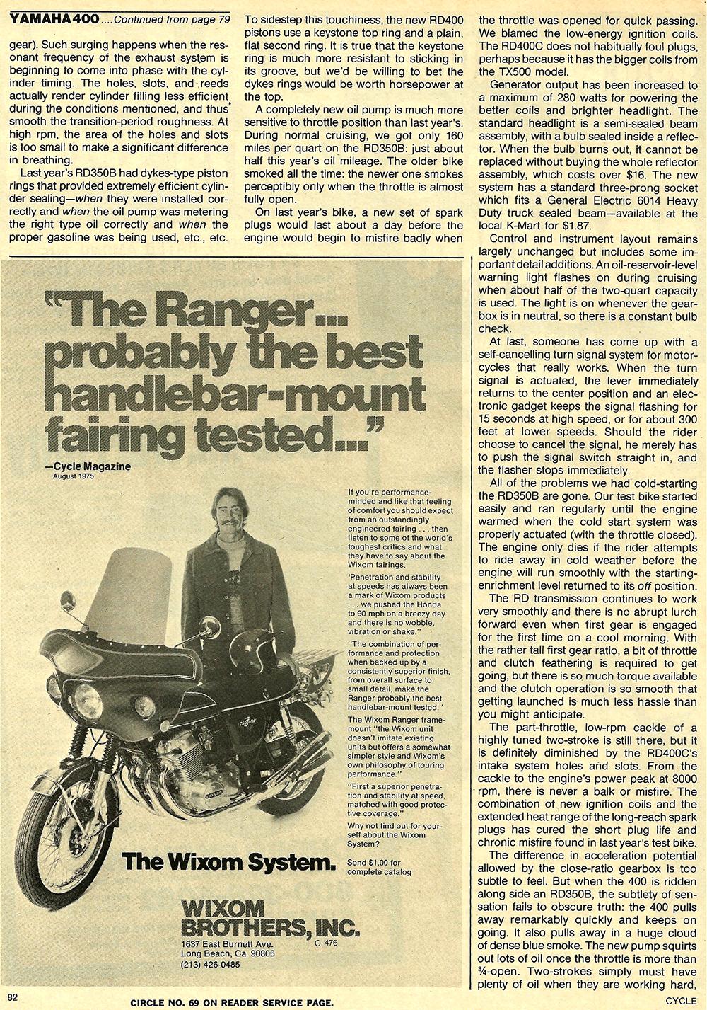 1976 Yamaha RD400C road test 7.jpg