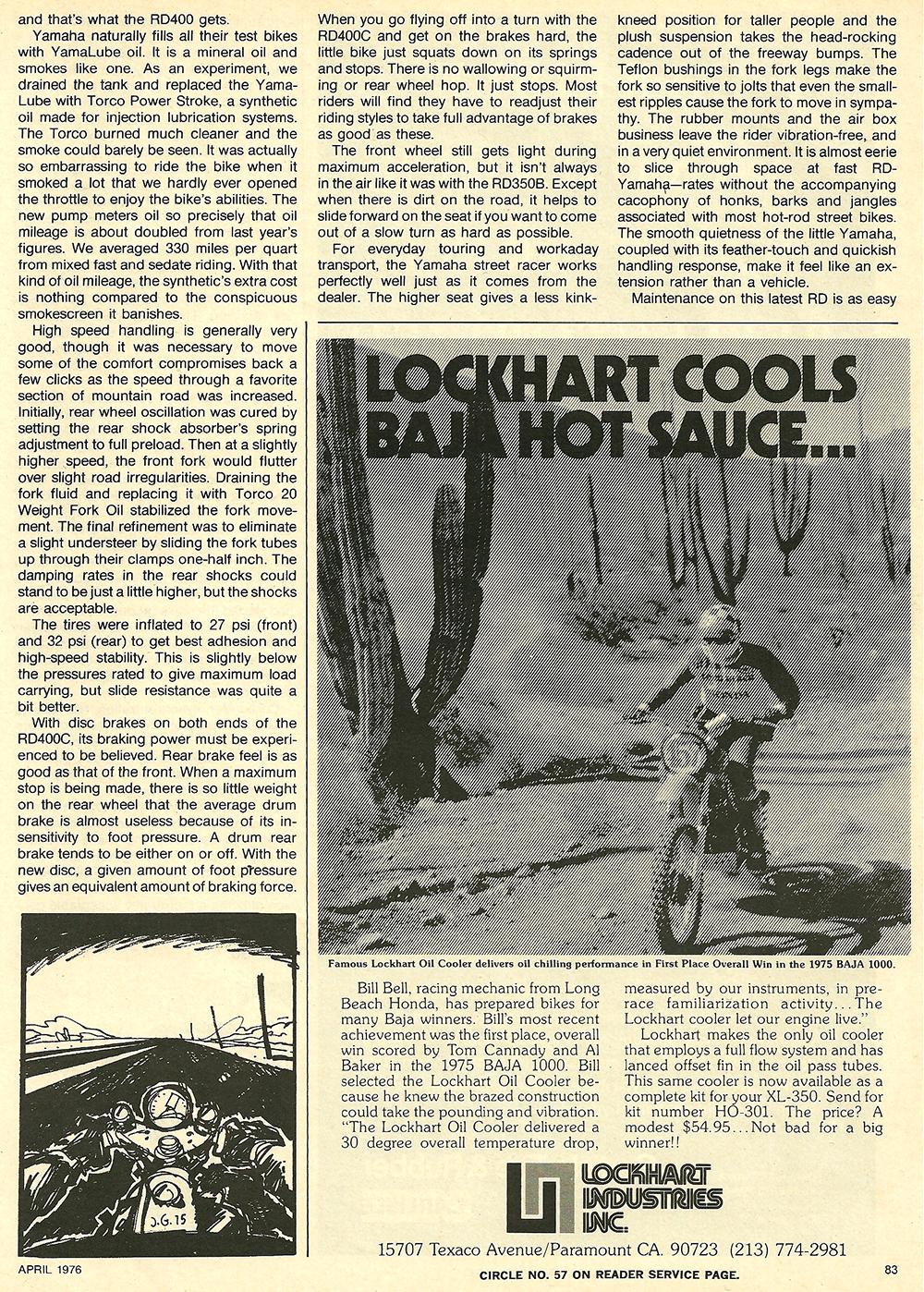 1976 Yamaha RD400C road test 8.jpg