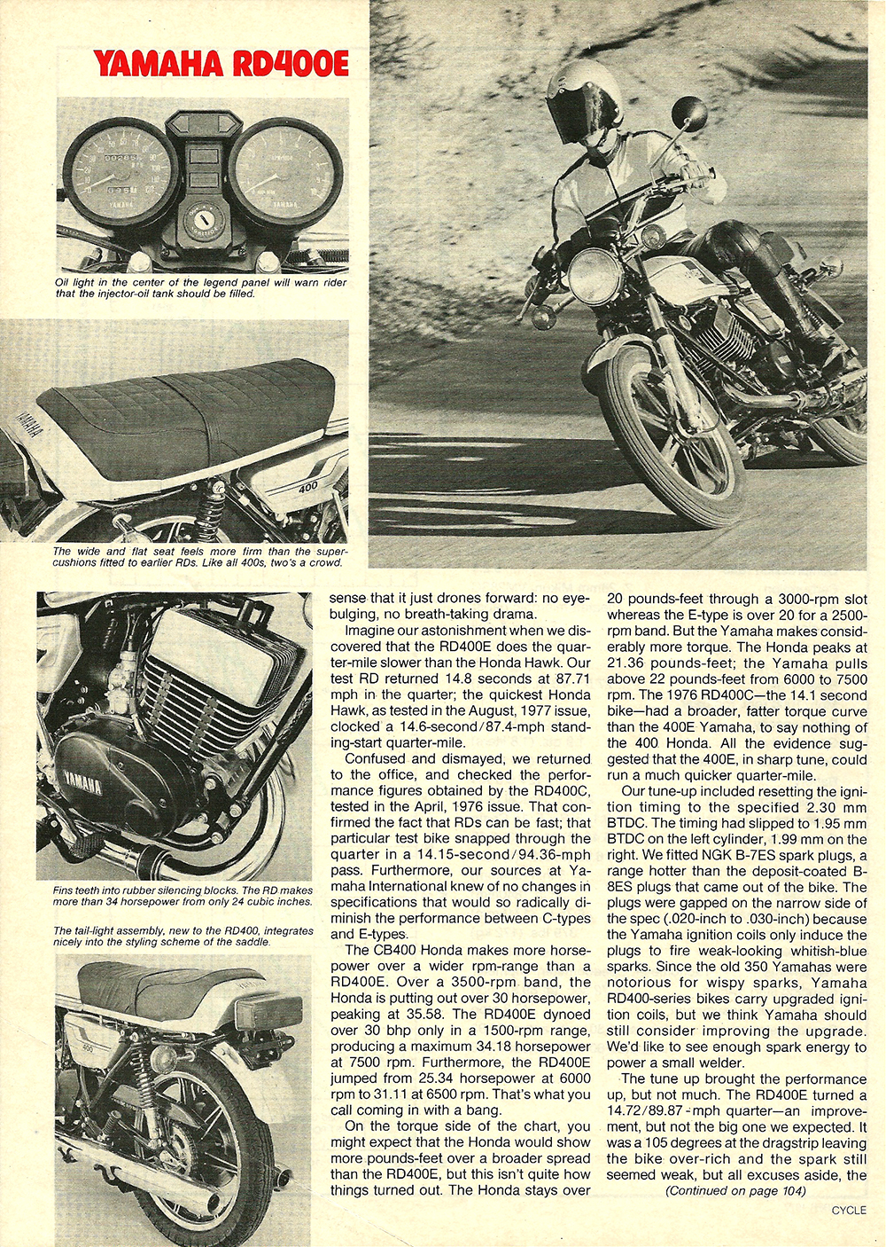 1977 Yamaha RD400E road test 5.jpg