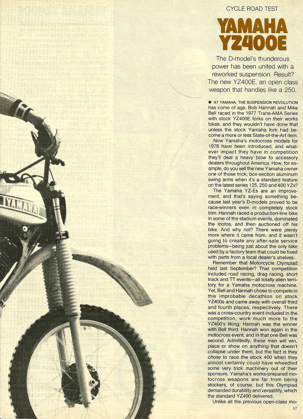 1978 Yamaha YZ400E road test 2.jpg