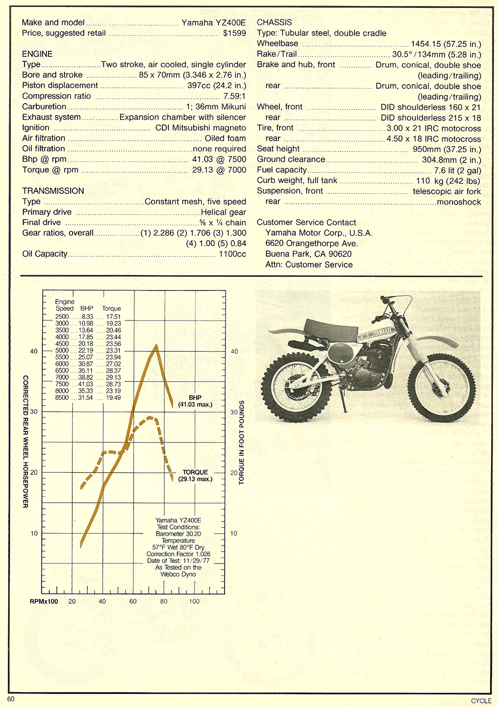 1978 Yamaha YZ400E road test 5.jpg