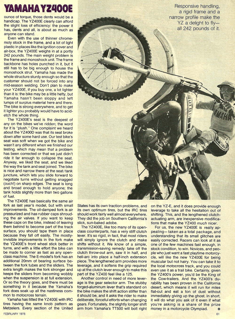 1978 Yamaha YZ400E road test 6.jpg
