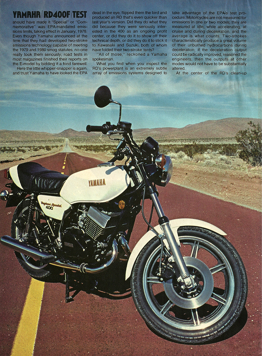 1979 Yamaha RD400F road test 03.jpg