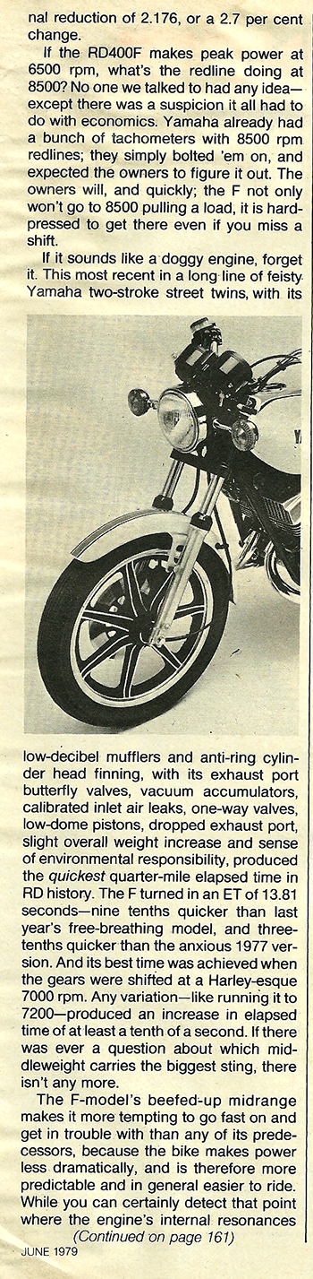 1979 Yamaha RD400F road test 09.jpg