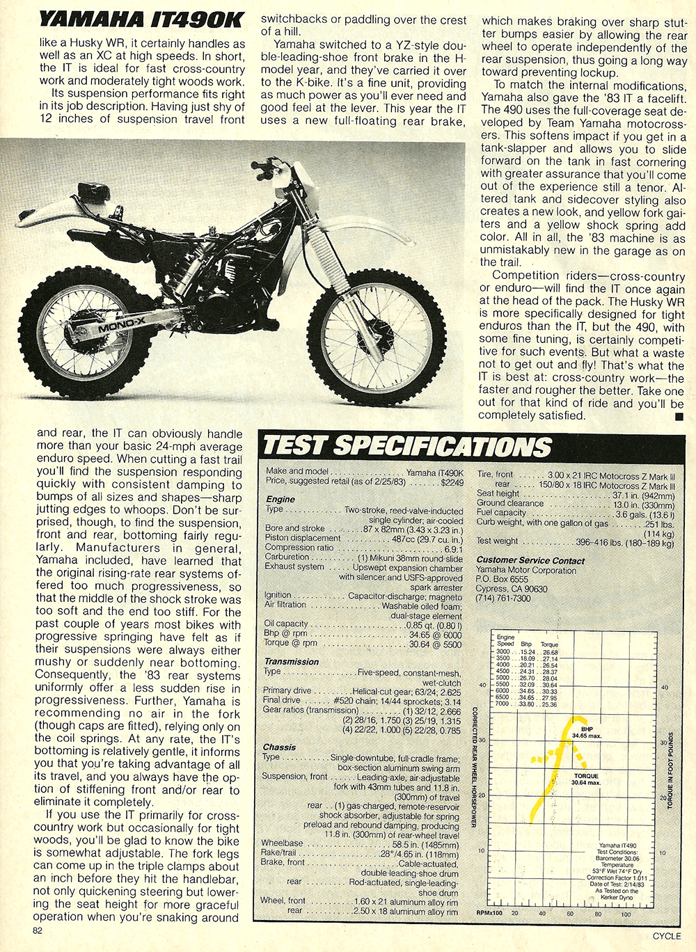 1983 Yamaha IT490K road test 6.jpg