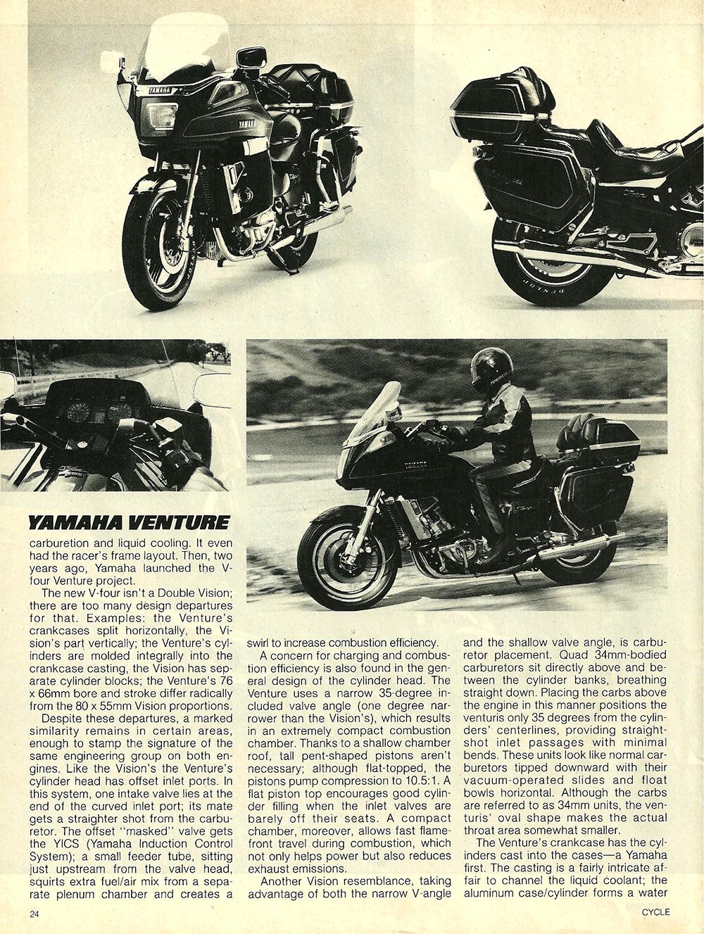 1983 Yamaha XVZ12TK Venture road test 03.jpg
