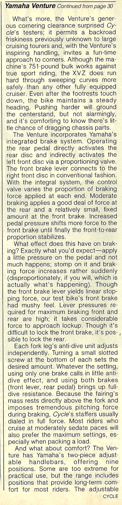 1983 Yamaha XVZ12TK Venture road test 09.jpg