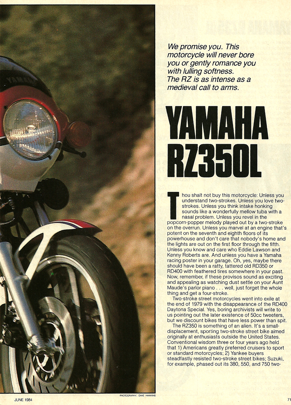 1984 Yamaha RZ350L road test 02.jpg