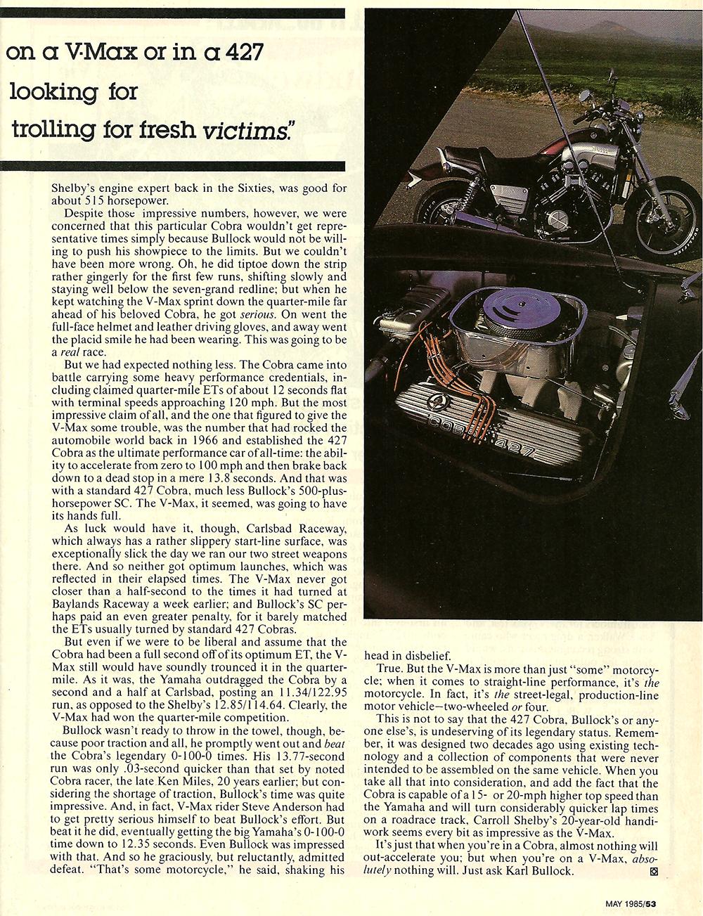 1985 Yamaha Vmax vs 427 Cobra 04.jpg