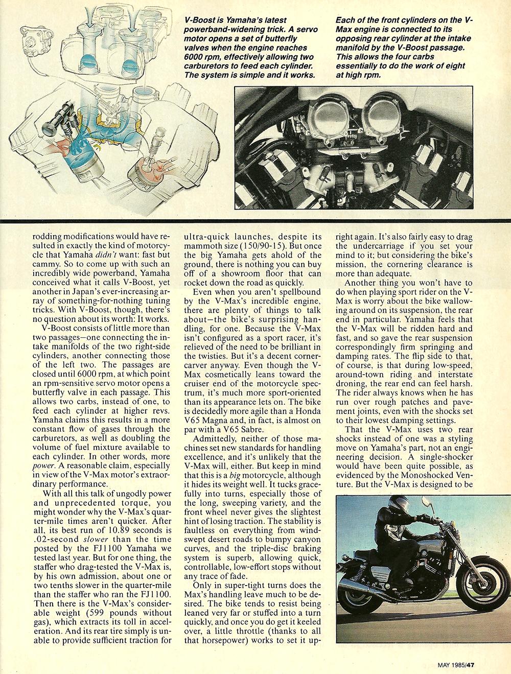 1985 Yamama Vmax 1200 road test 04.jpg