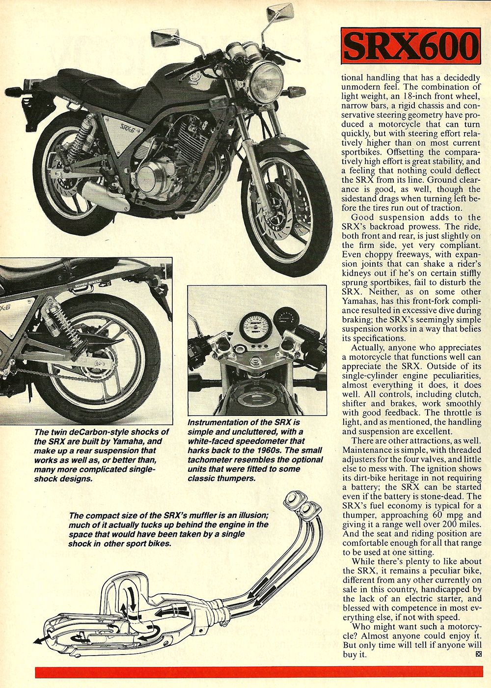 1986 Yamaha SRX600 road test 05.jpg