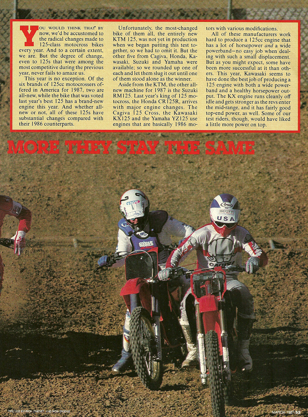 1987 Comparison KX125 vs RM125 vs Cagiva 125MX vs YZ125 vs CR125 road test 02.jpg