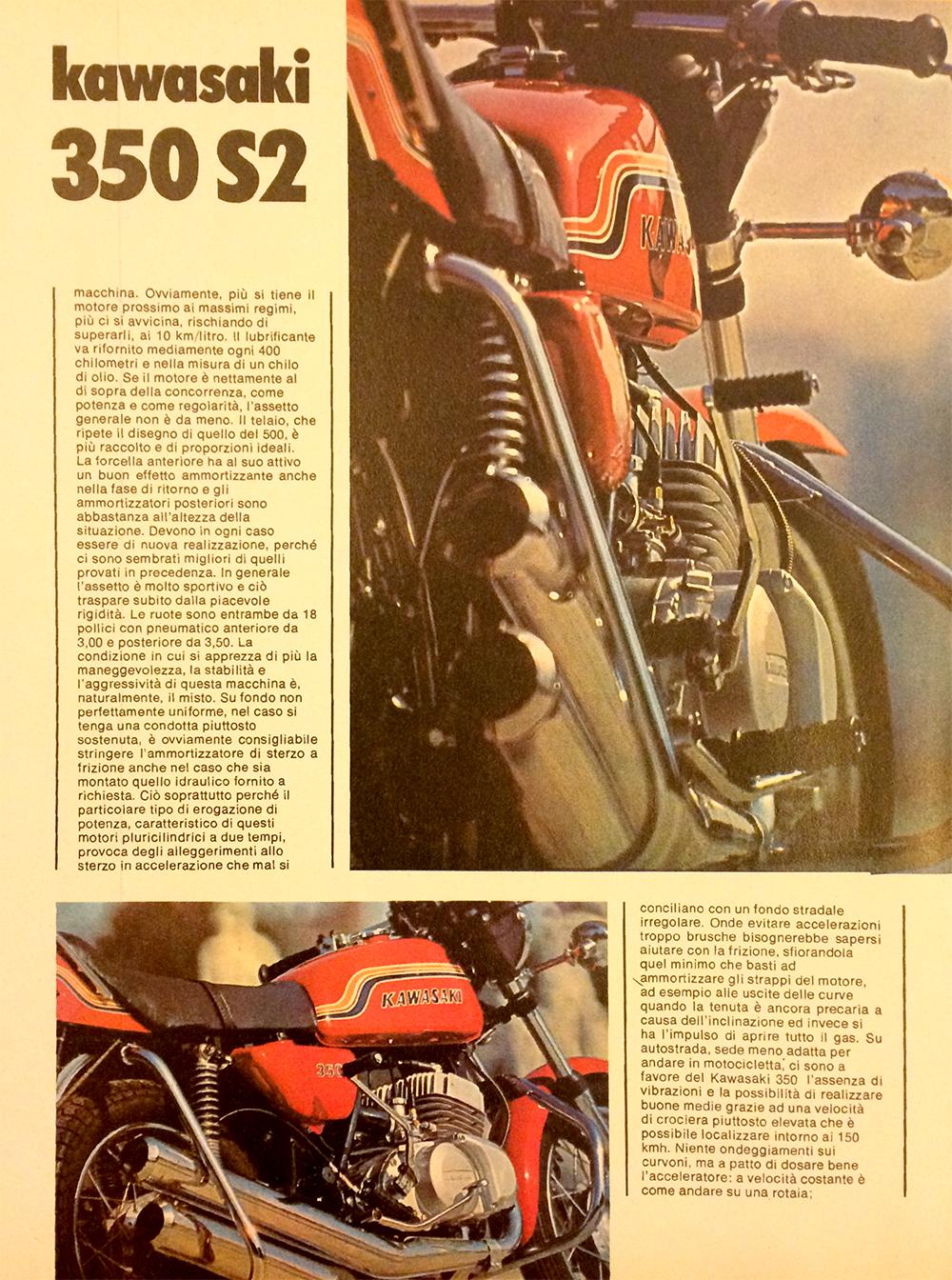 1971 Kawasaki 350 S2 Italy road test 10.jpg