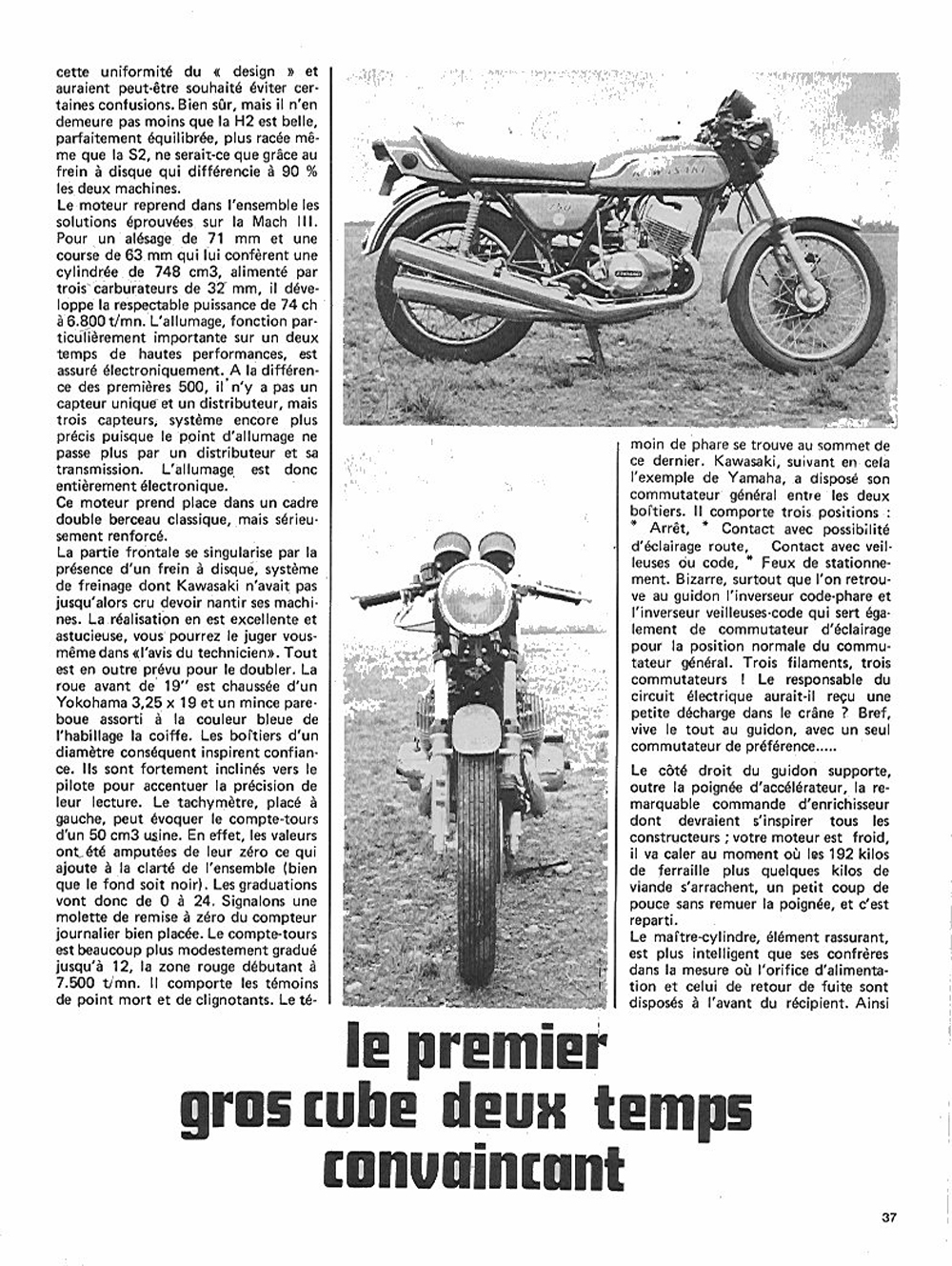 1972 Kawasaki H2 750 road test france 02.jpg
