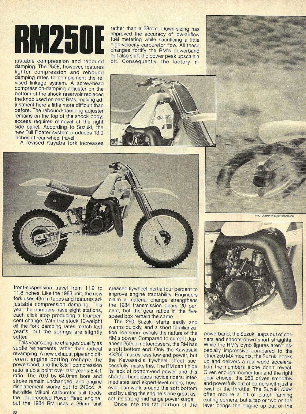 1984 Suzuki RM250 E road test 02.jpg