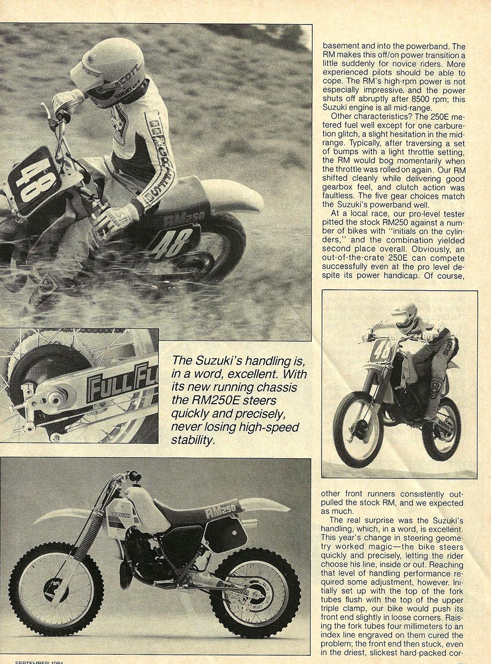 1984 Suzuki RM250 E road test 03.jpg