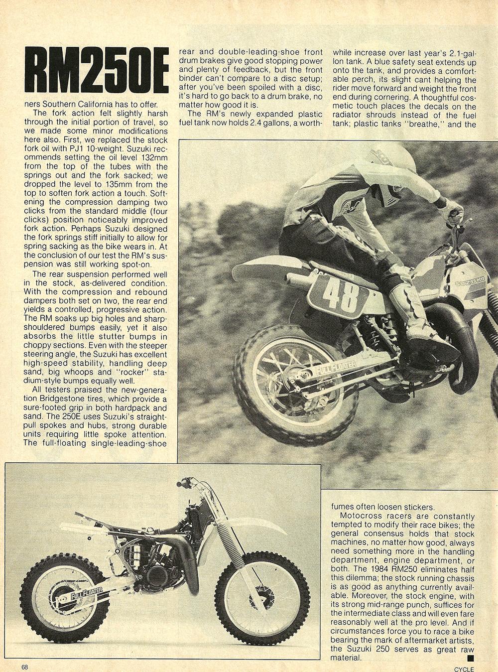 1984 Suzuki RM250 E road test 04.jpg