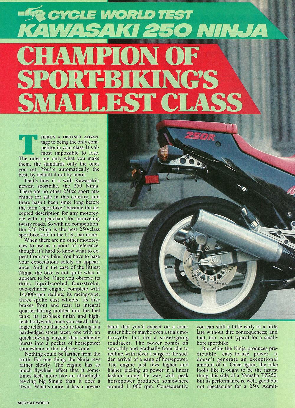 1986 Kawasaki Ninja 250 road test 01.jpg