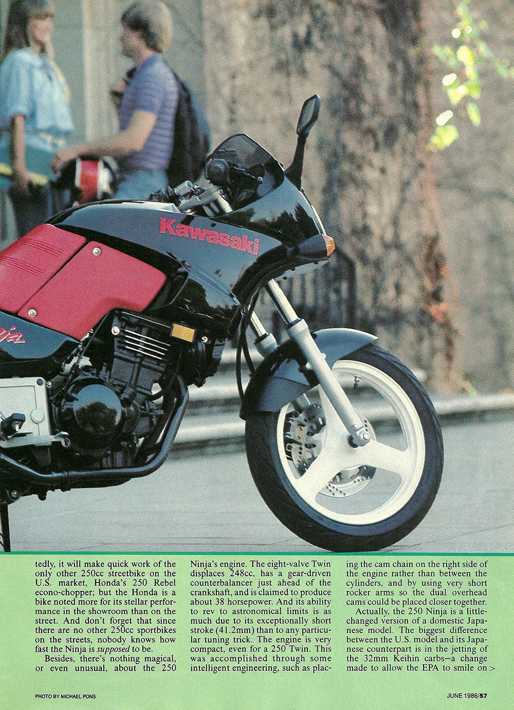 1986 Kawasaki Ninja 250 road test 02.jpg