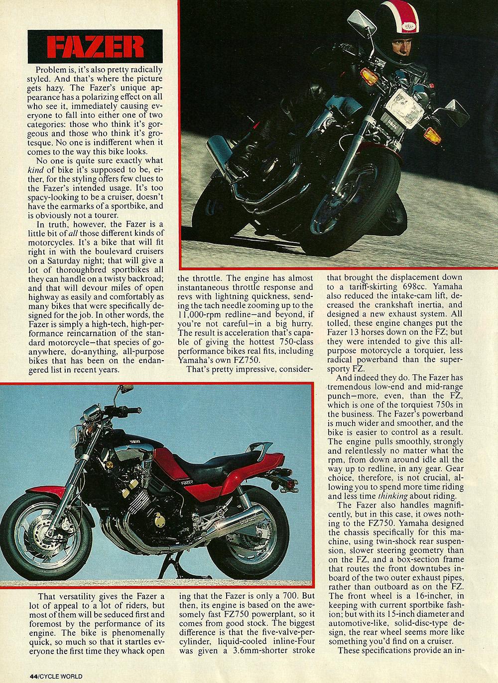 1986 Yamaha Fazer FZX700 road test 03.jpg