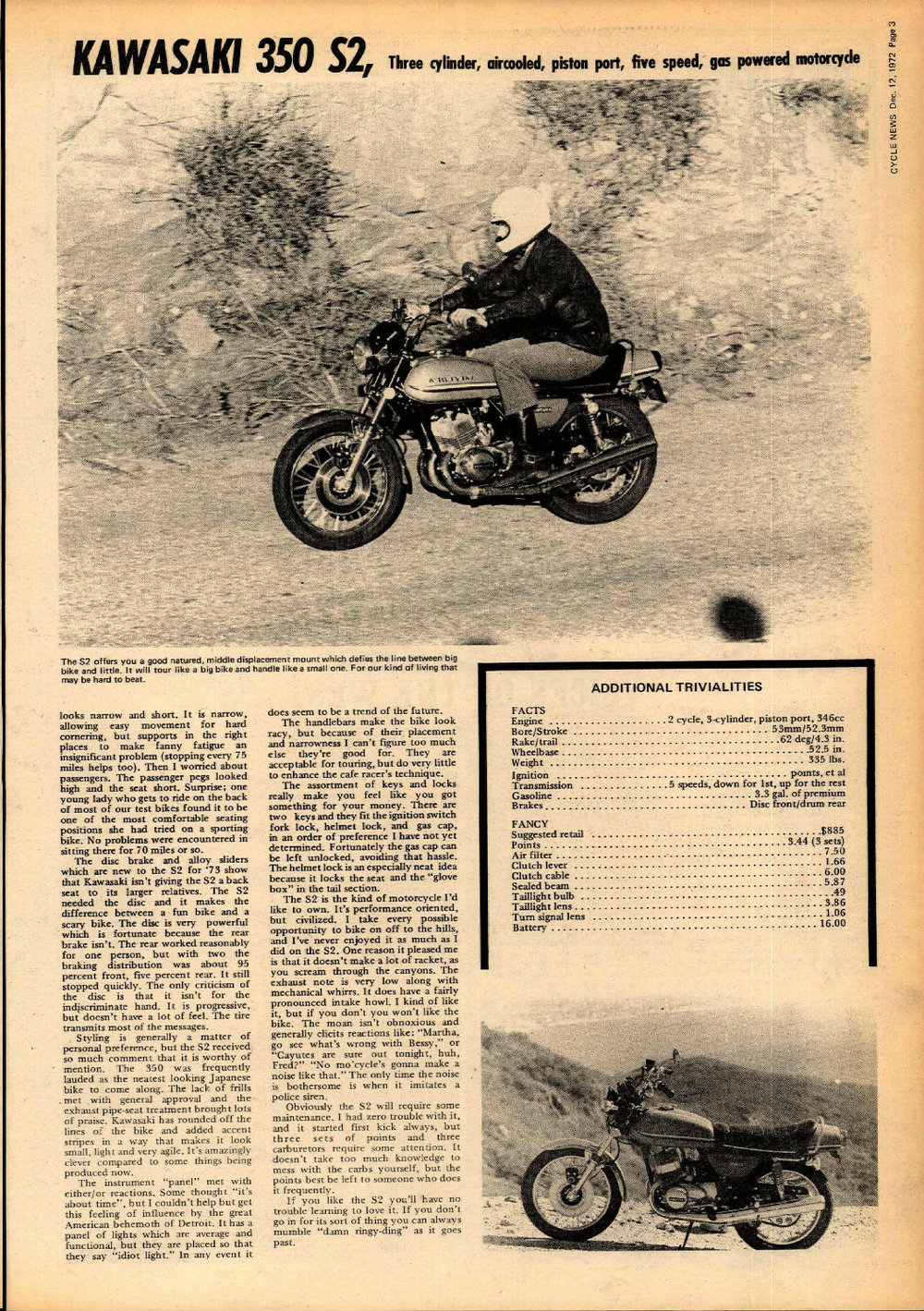 1973 Kawasaki 350 S2 road test 02.jpg