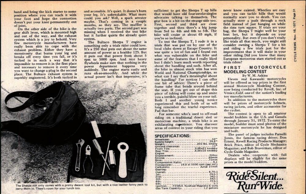 1971 Bultaco Sherpa T test 02.jpg