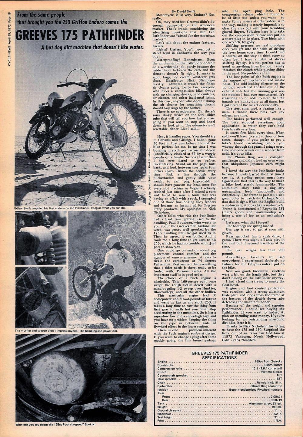 1972 Greeves 175 Pathfinder road test 01.jpg