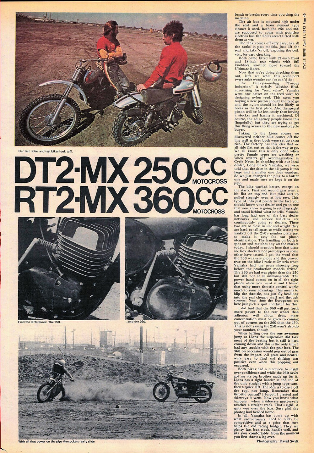 1972 Yamaha DT2 and MT2 test 01.jpg