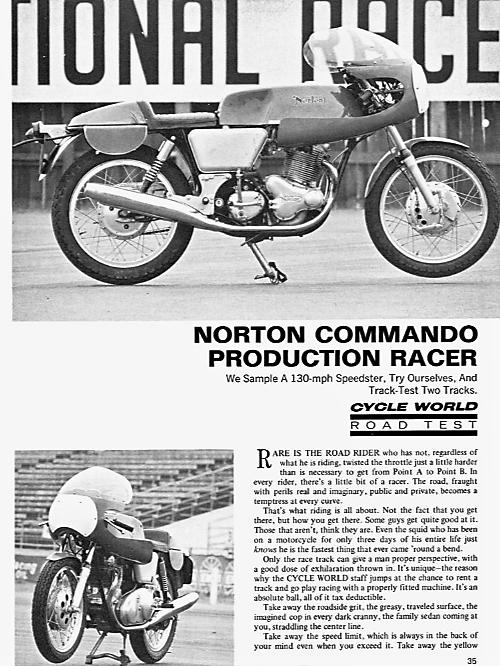 Norton Commando proddie racer track test 1969. 3.png