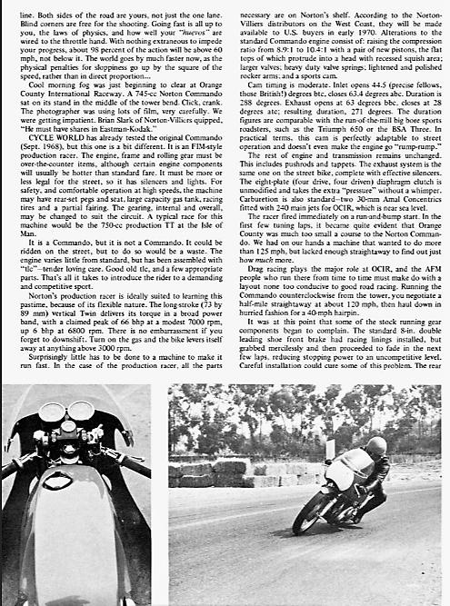 Norton Commando proddie racer track test 1969. 4.png