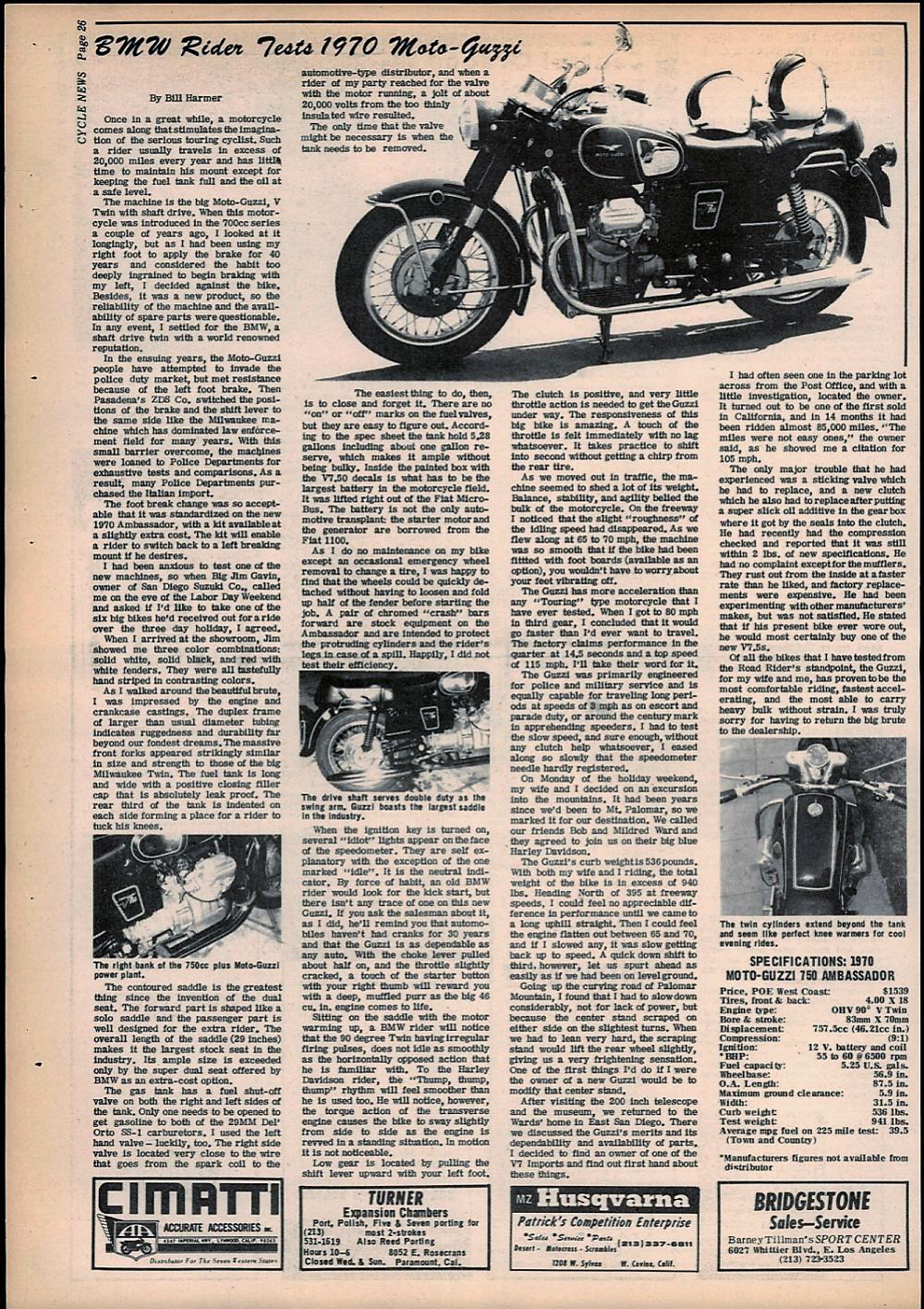 1969 Moto Guzzi 750 Ambassador road test. 1.jpg