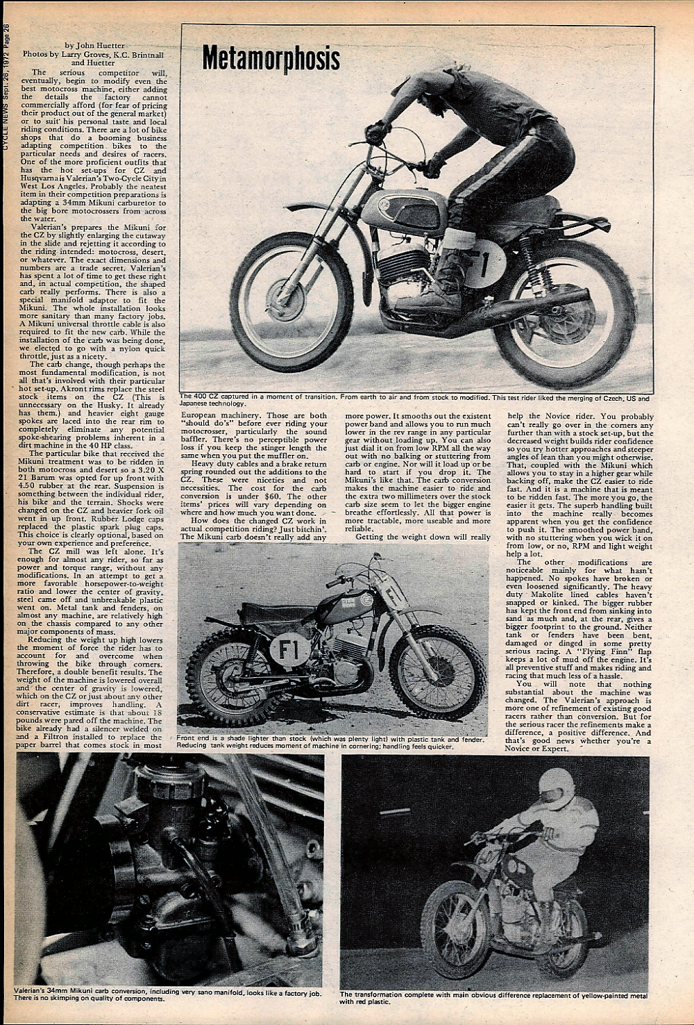 1972 Modified CZ 400 road test  — Ye Olde Cycle Shoppe