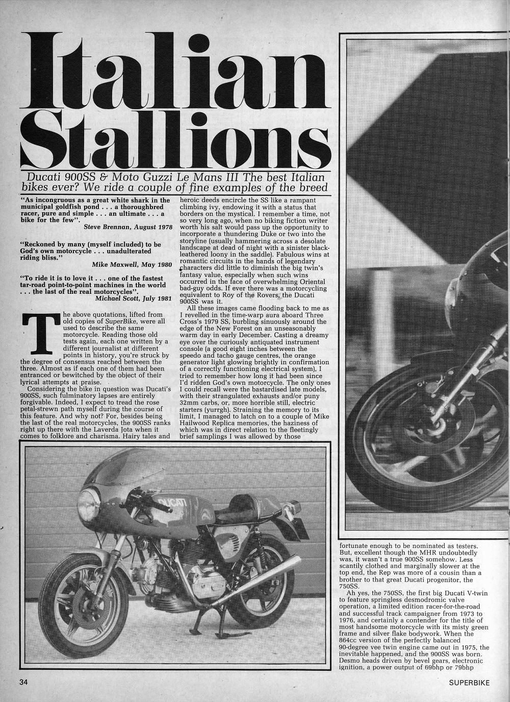 1979 Ducati 900SS & 1981 Moto Guzzi Le Mans 111 road test.1.jpg