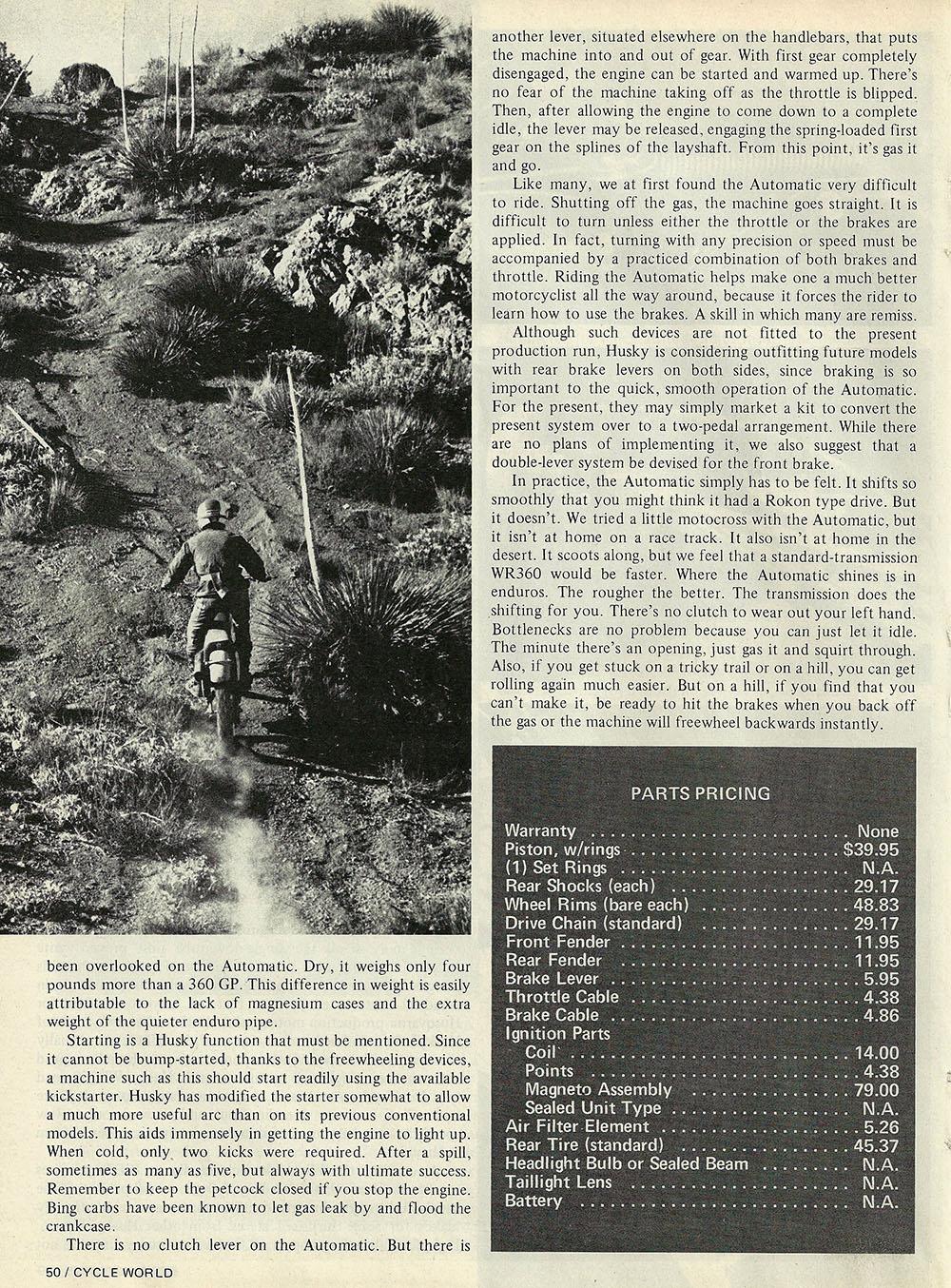 1976 Husqvarna 360 Auto road test 05.jpg