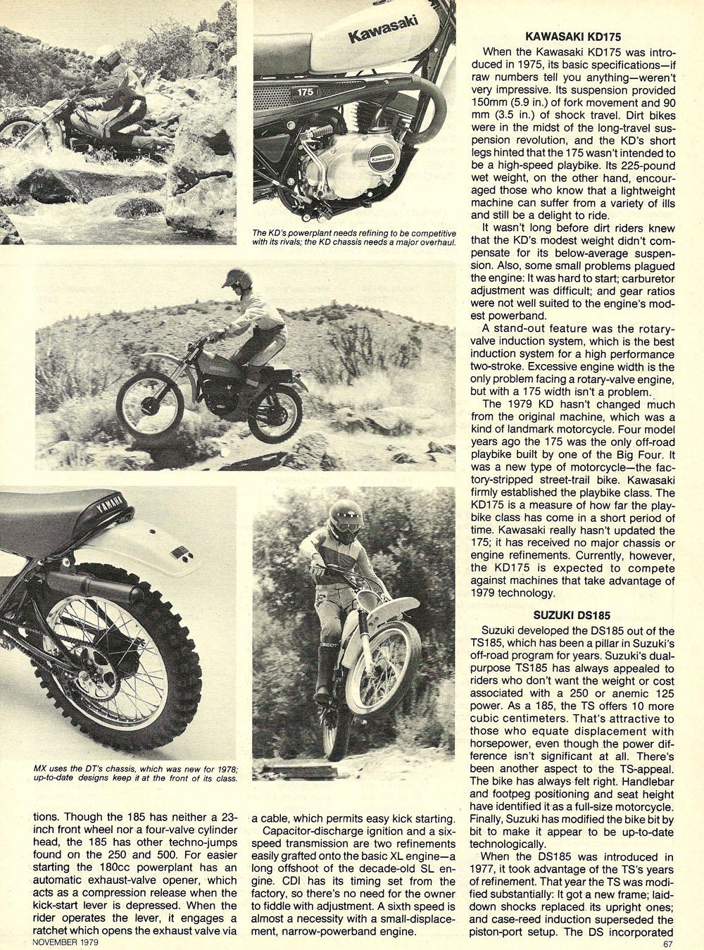 1979 Comparison XR185 KD175 DS185 MX175 test 04.jpg
