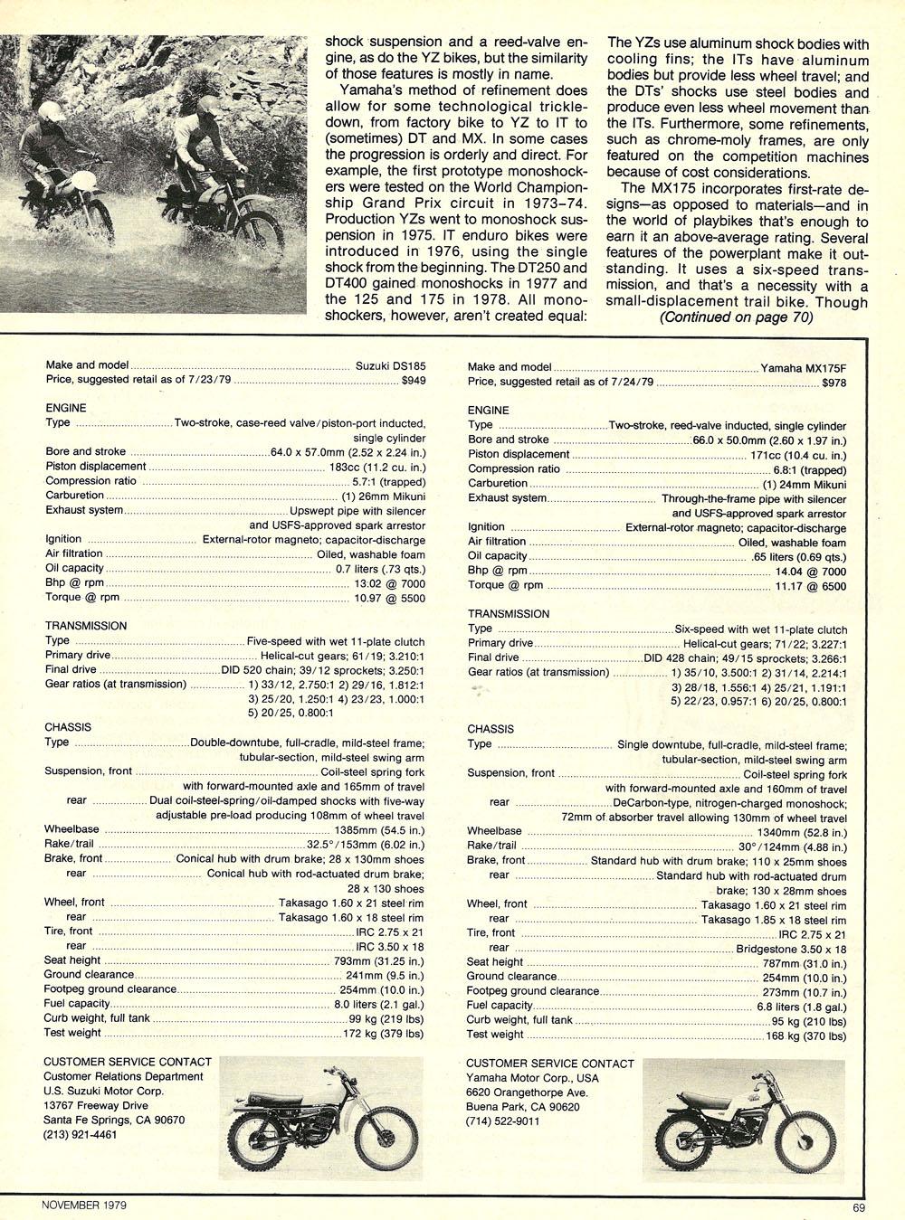 1979 Comparison XR185 KD175 DS185 MX175 test 06.jpg