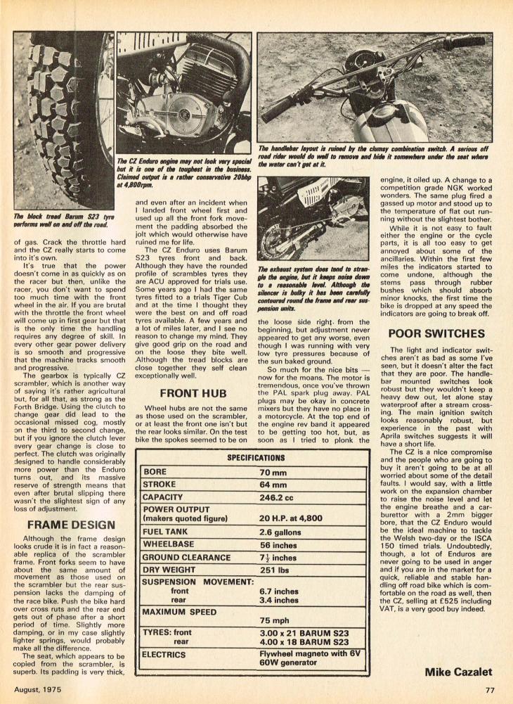 1975 CZ 250 Enduro road test.2.jpg