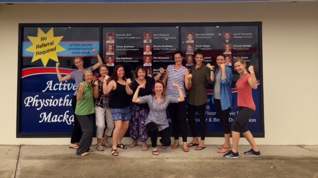 Course participants of the 'Rehabilitation for Breast Cancer Course' at Danielle Bell's clinic 'Active Physiotherapy' in Queensland Australia, March 2016.