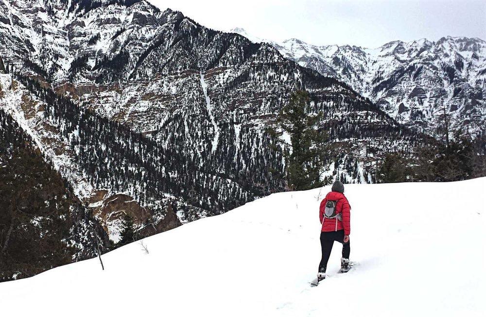 Snowshoeing Ouray Colorado