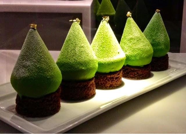 Fauchon's-Paris Christmas tree cakes