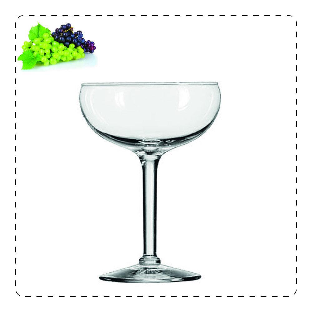 COPPA  Il bicchiere a coppa è perfetto per spumanti aromatici e dolci perché l'apertura ampia agevola la risalita in superficie delle bollicine, contribuendo a disperdere l'effetto frizzante ed esaltando gli aromi.