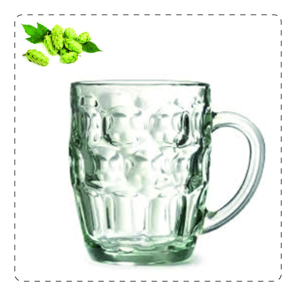 BOCCALE  È il classico bicchiere da birra: in vetro liscio e spesso, viene utilizzato per servire birre ales e stout, contenendone la schiuma cremosa. È utilizzato anche per birre lager.