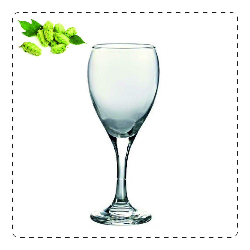 CALICE  Questo bicchiere accoglie la schiuma della birra e ne esalta gli aromi: va bene per birre complesse come le strong ale belghe o molto luppolate.