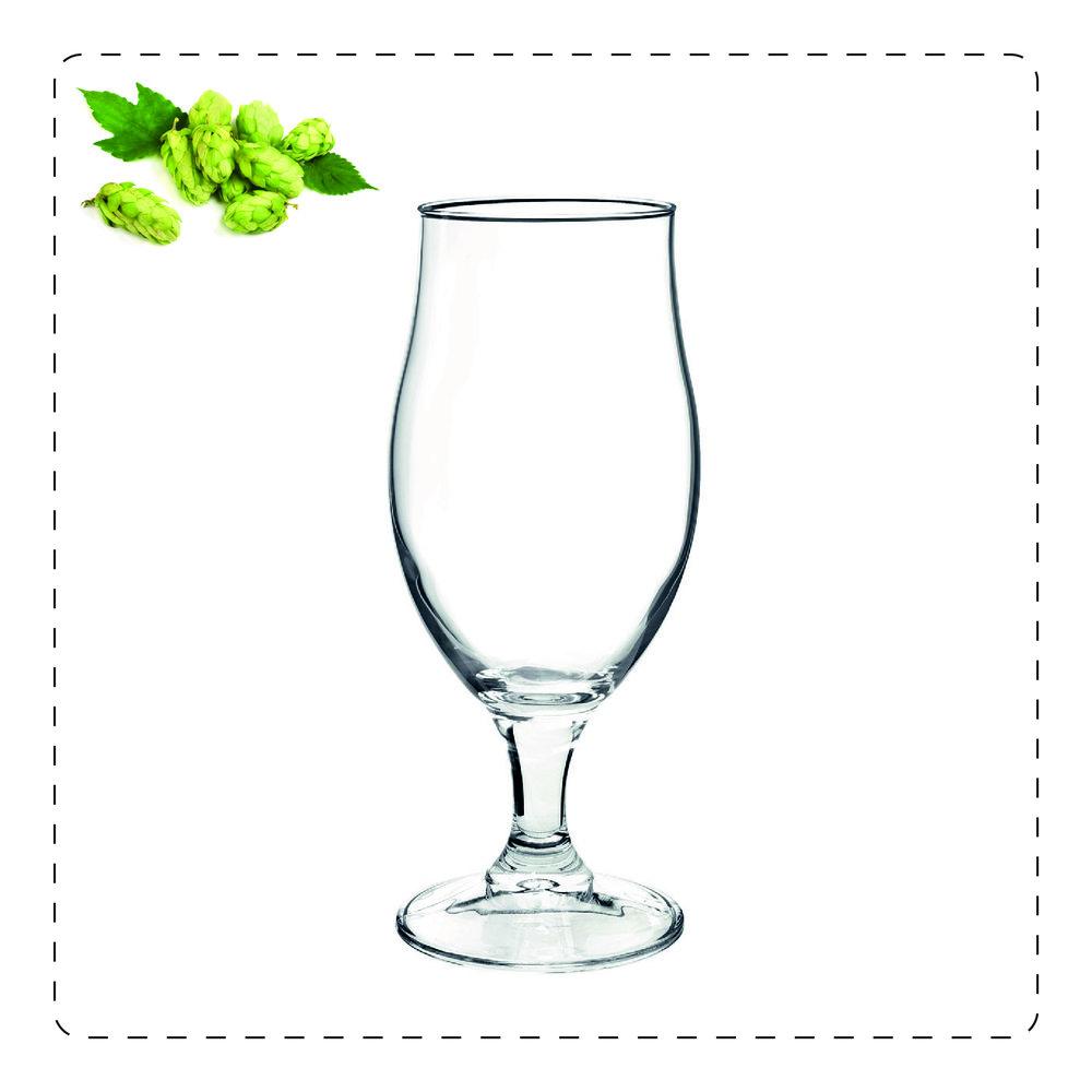 CALICE A TULIPANO  Questo bicchiere prende il nome proprio dalla sua forma che ricorda, appunto, un tulipano: la parte più alta, più stretta serve a racchiudere gli aromi volatili e a farli scoprire pian piano all'olfatto. È adatto a birre molto aromatiche come le belghe d'abbazia.