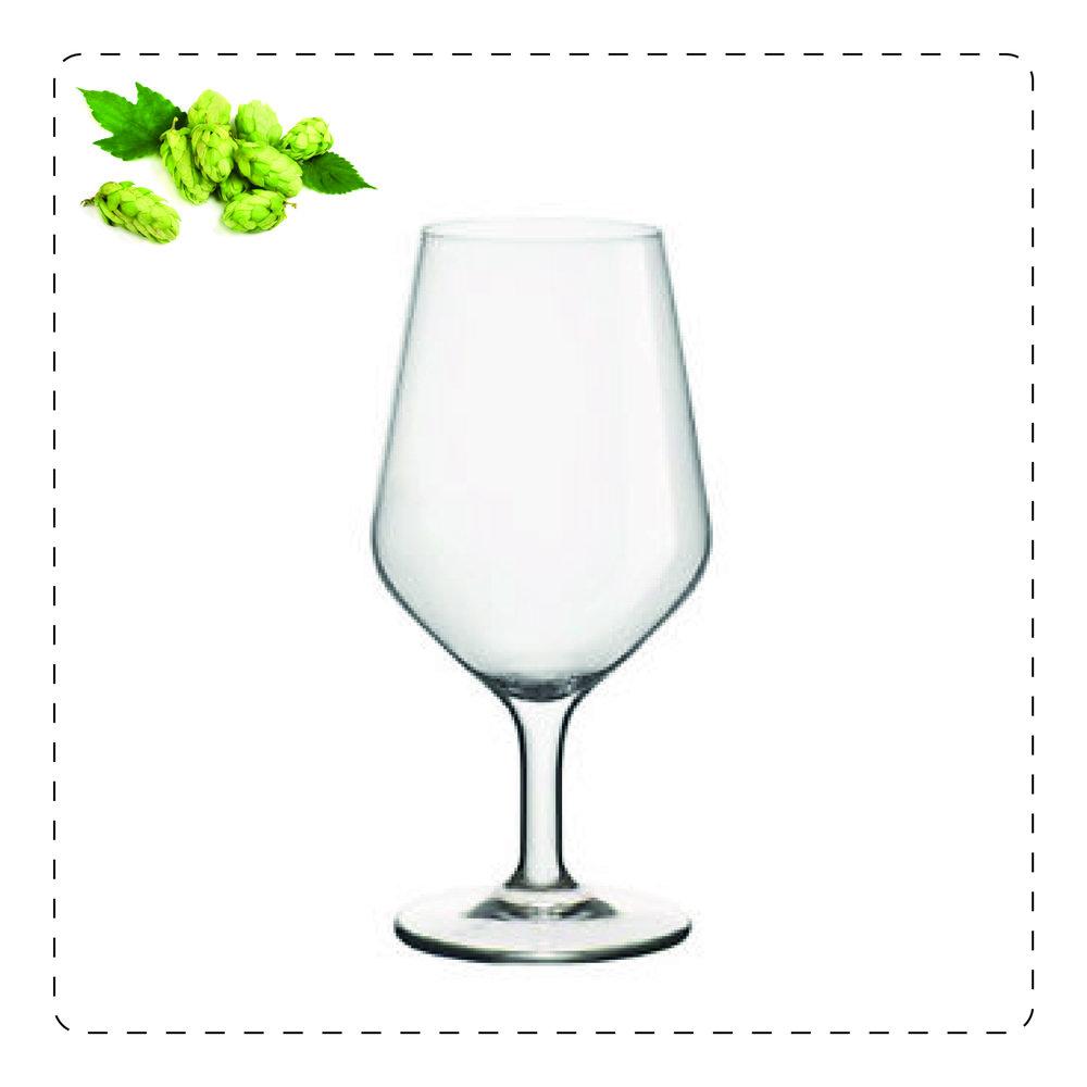 CALICE A CHIUDERE  Questo bicchiere in vetro sottile consente alla schiuma di alzarsi rispetto al bordo. È adatto per lager o pils.