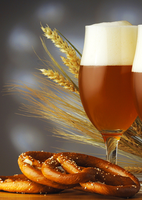 Birra e pretzel